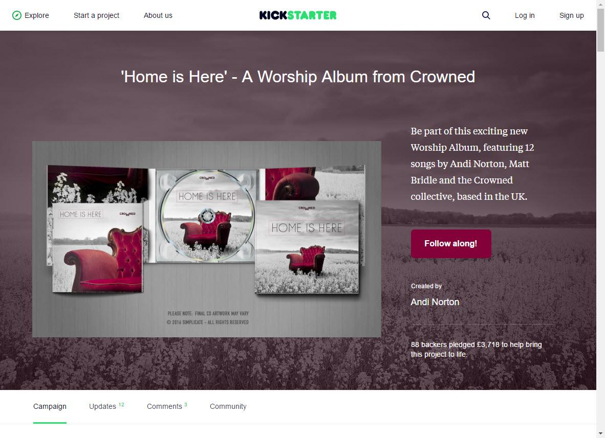 Crowned Kickstarter campaign